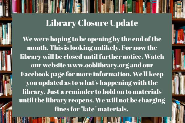 Library Closure Update