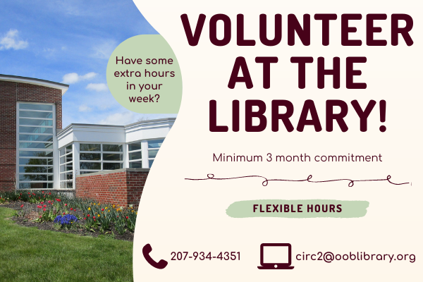 Volunteer Opportunities at the Library