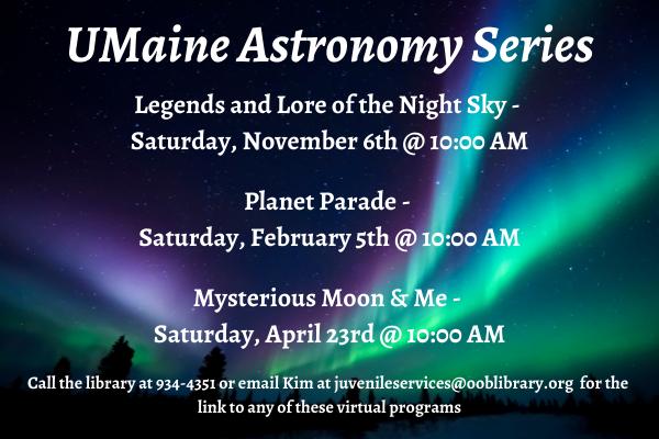 Virtual UMaine Astronomy Series